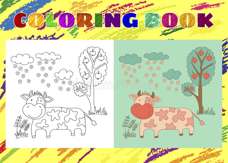Книжка-раскраска для детей Схематичная маленькая розовая ...