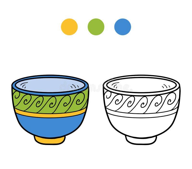 Книжка-раскраска для детей Чашка с геометрической картиной бесплатная иллюстрация