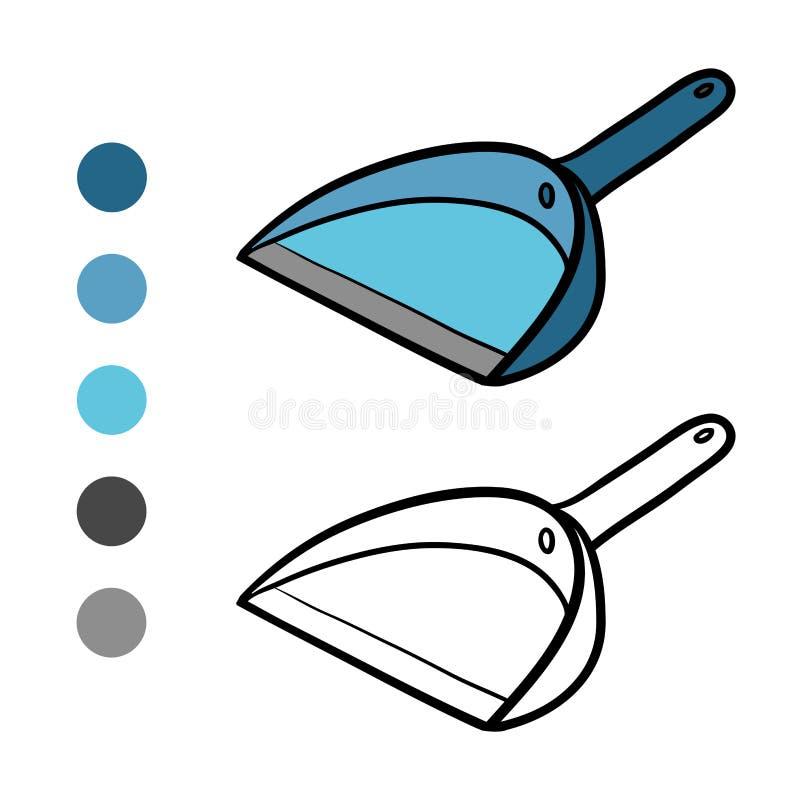 Книжка-раскраска, Dustpan иллюстрация штока