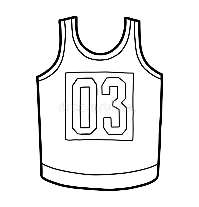 Книжка-раскраска, jersey баскетбола иллюстрация штока