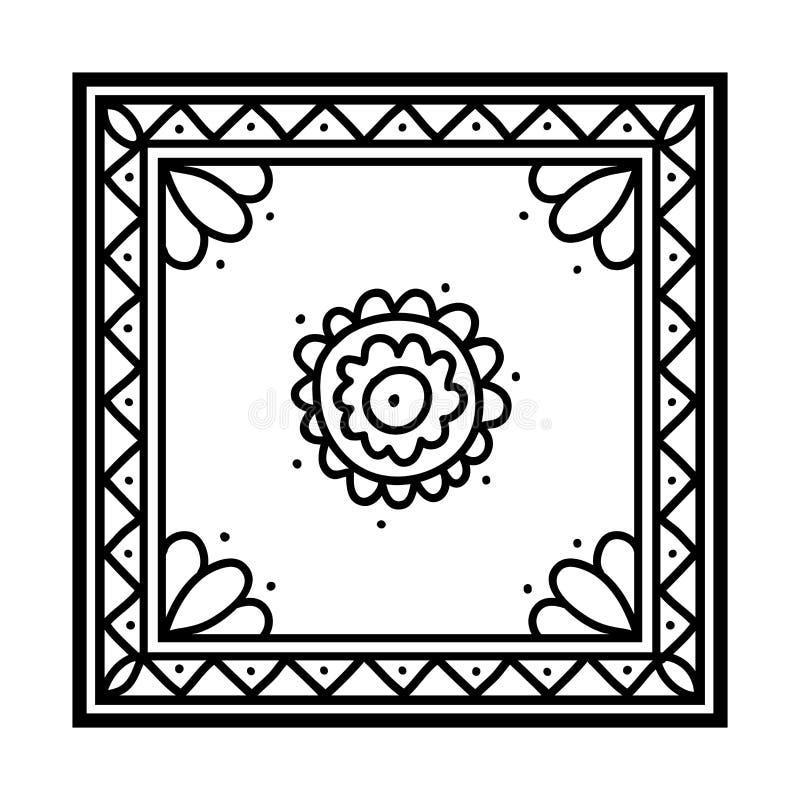 Книжка-раскраска, Silk носовой платок иллюстрация вектора