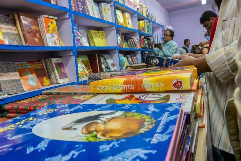 Книжная ярмарка Kolkata, западная Бенгалия, Индия стоковое фото rf