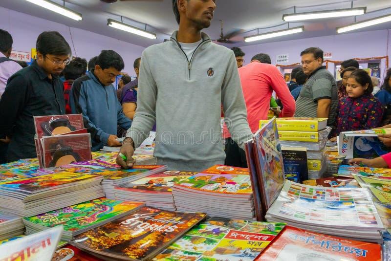 Книжная ярмарка Kolkata, западная Бенгалия, Индия стоковая фотография