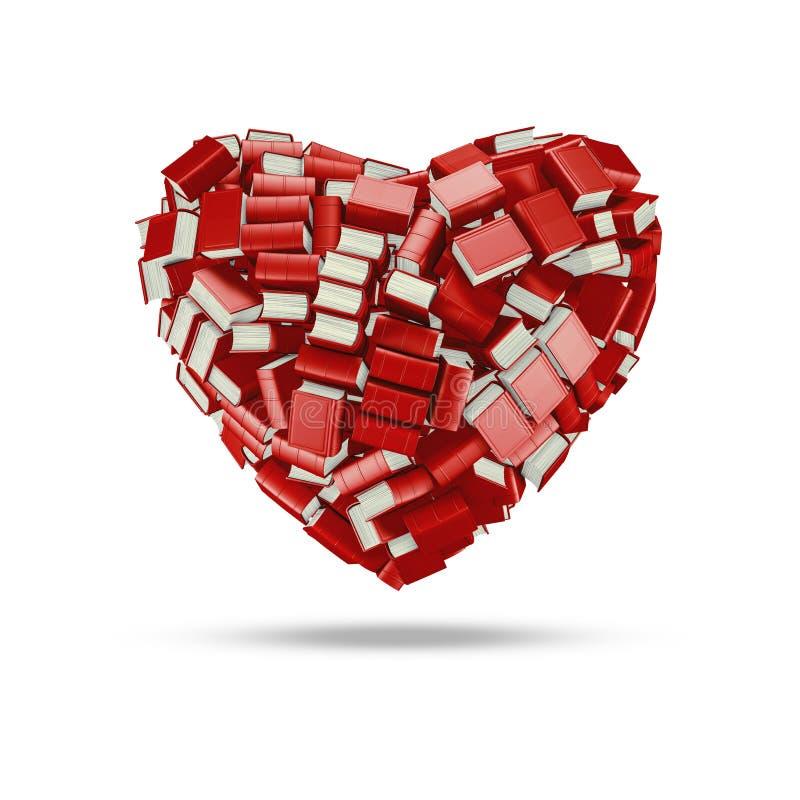 Книжное сердце иллюстрация штока