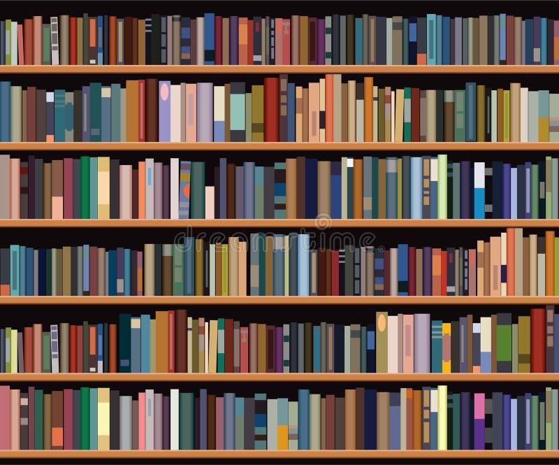 книжные полки иллюстрация штока