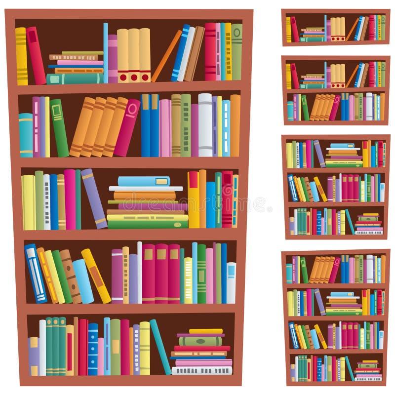 книжные полки иллюстрация вектора