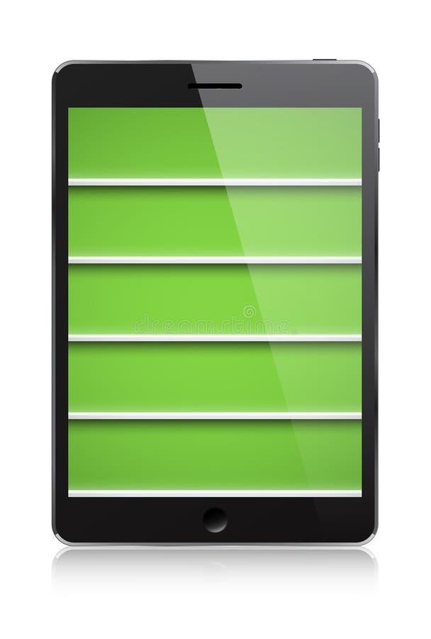 Книжные полки PDA иллюстрация вектора
