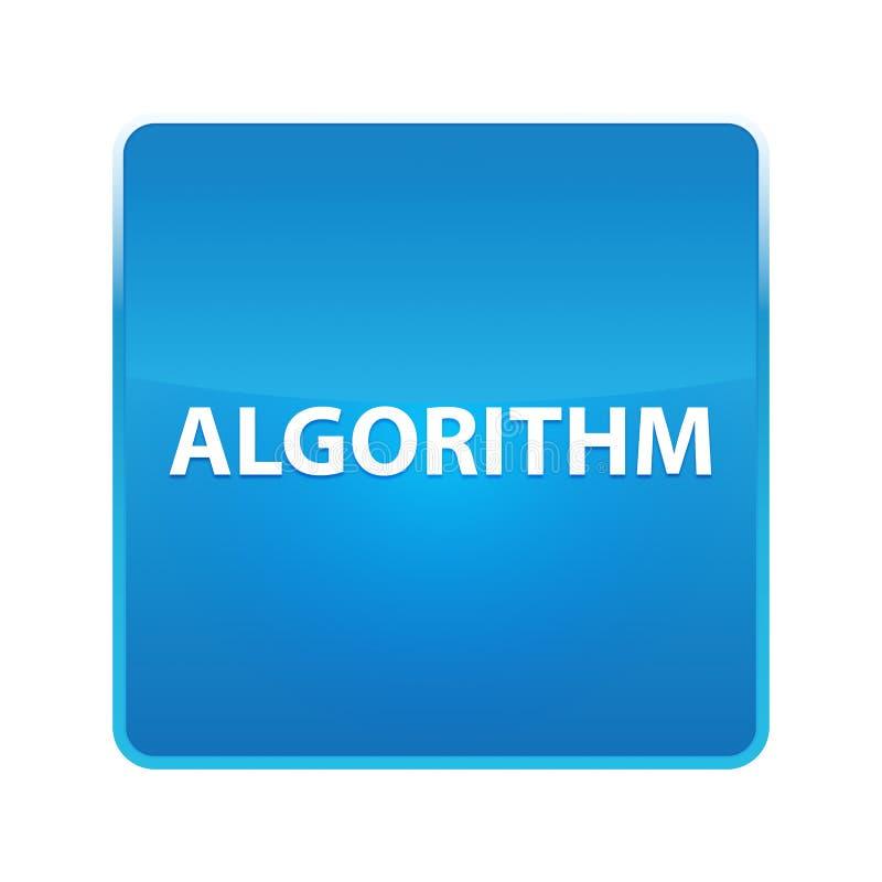 Кнопка алгоритма сияющая голубая квадратная бесплатная иллюстрация
