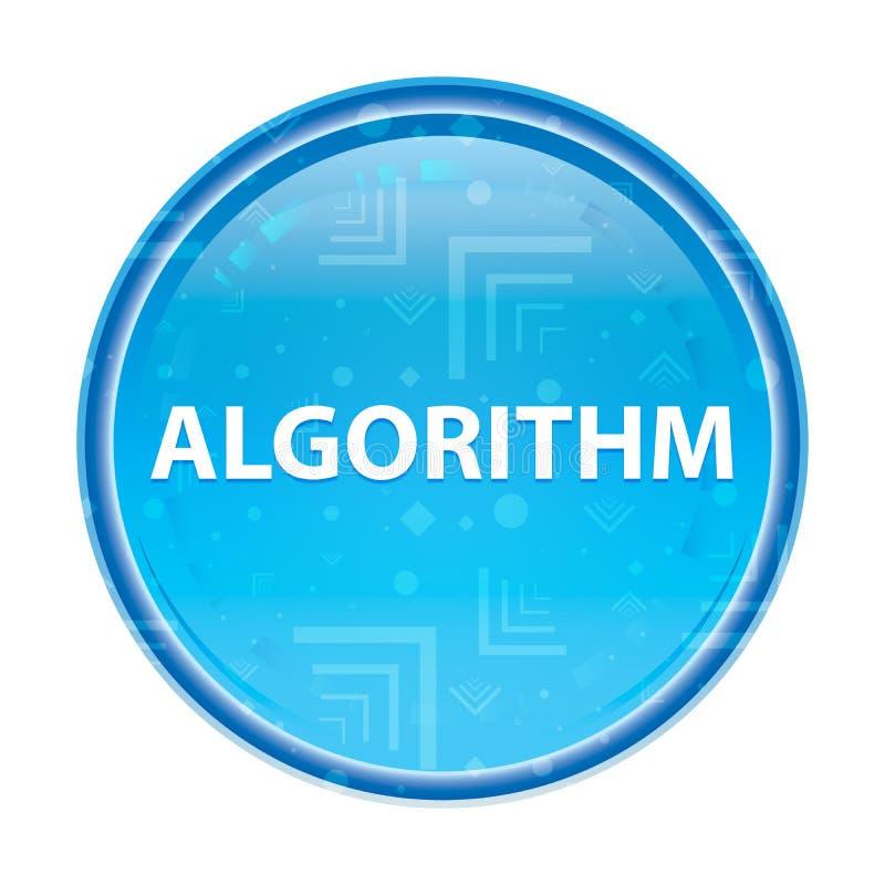 Кнопка алгоритма флористическая голубая круглая иллюстрация вектора