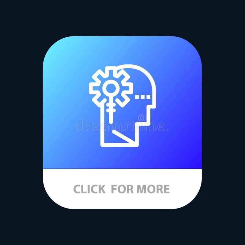 Кнопка 'Аналитика, критическая, человеческая, информация, обработка мобильного приложения Версия строки Android и IOS бесплатная иллюстрация