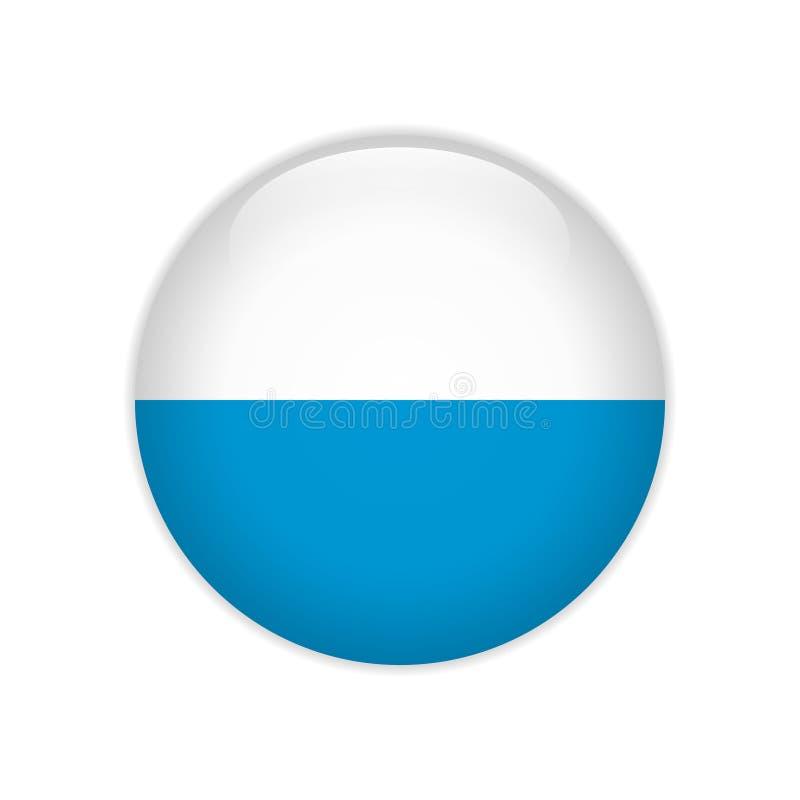 Кнопка Баварии флага бесплатная иллюстрация
