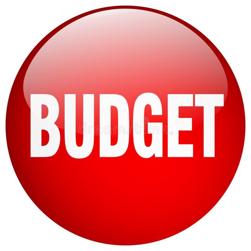 кнопка бюджета иллюстрация вектора