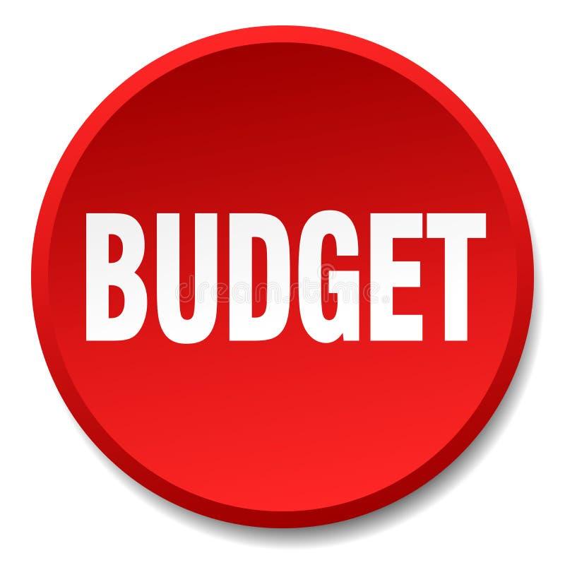 кнопка бюджета иллюстрация штока