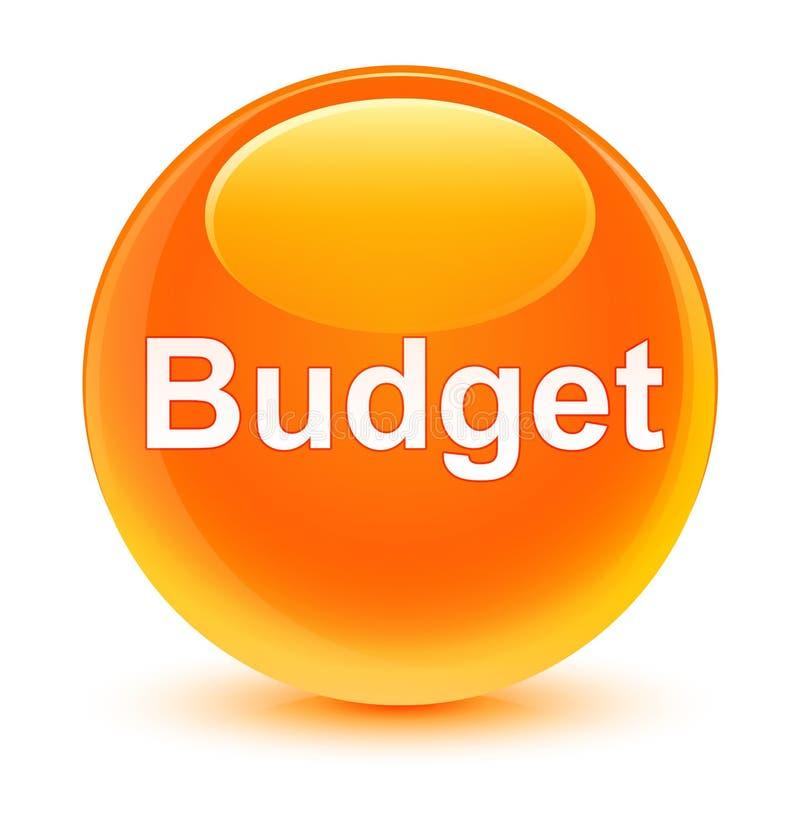 Кнопка бюджета стекловидная оранжевая круглая иллюстрация вектора