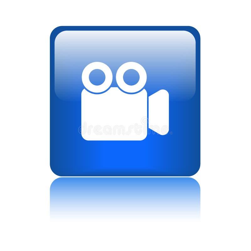 Кнопка видеокамеры кино иллюстрация штока