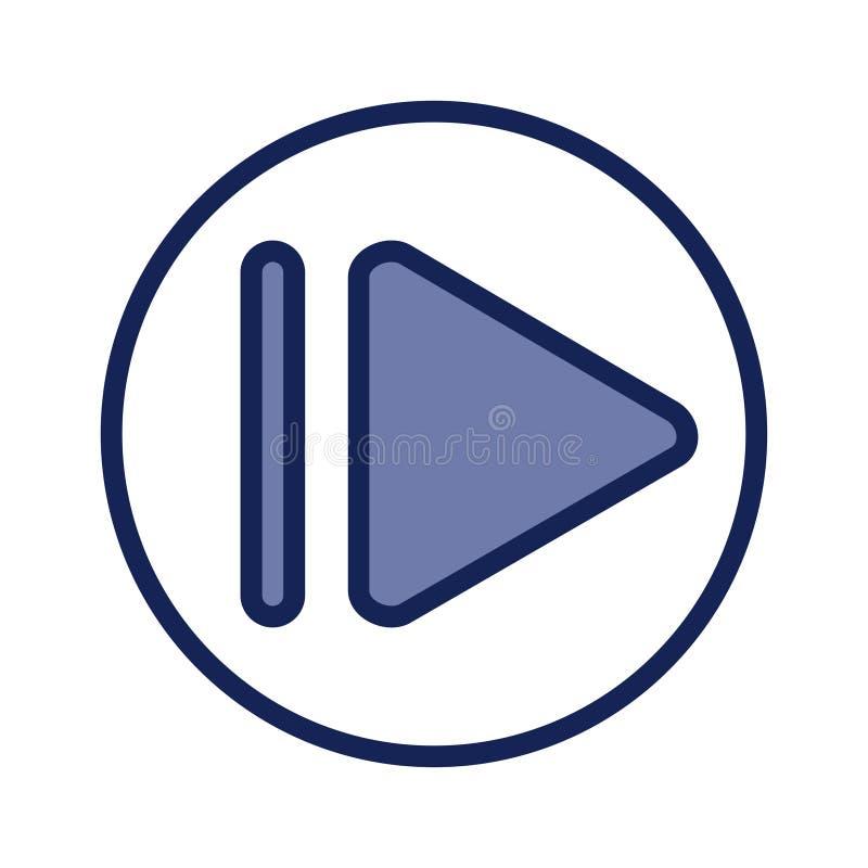 Кнопка воспроизведения, значок вектора Шаблон для дизайна ui стоковое изображение