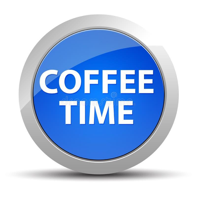 Кнопка времени кофе голубая круглая бесплатная иллюстрация