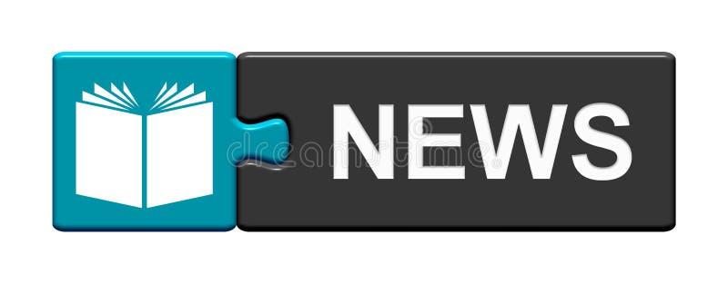 Кнопка головоломки: Новости иллюстрация вектора
