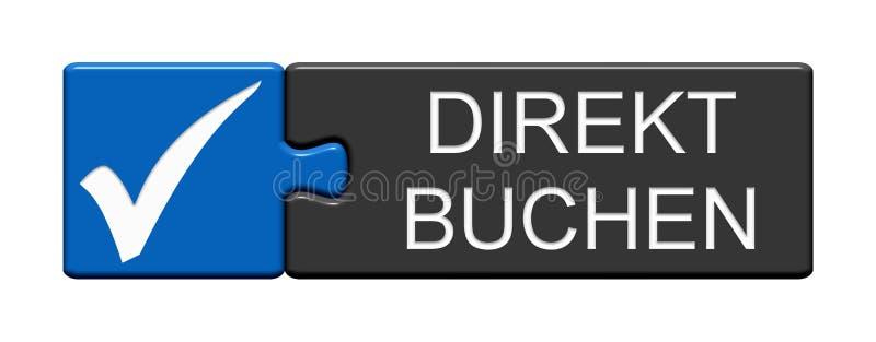 Кнопка головоломки: Сразу записывая немец иллюстрация штока
