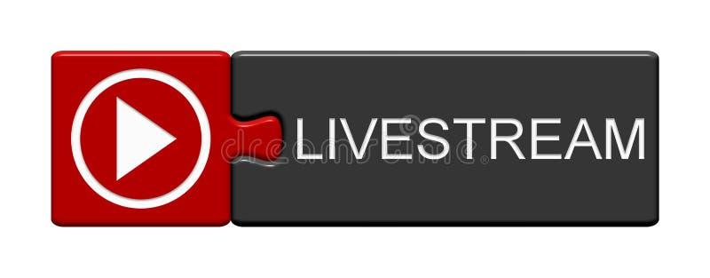 Кнопка головоломки: Livestream бесплатная иллюстрация