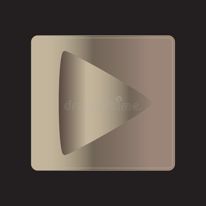 Кнопка градиента металла игры иллюстрация штока
