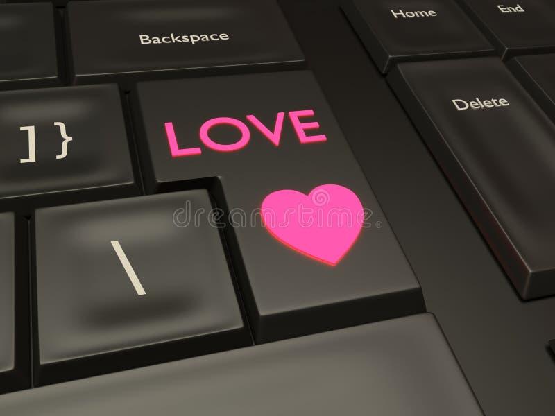 Кнопка датировка влюбленности стоковые изображения