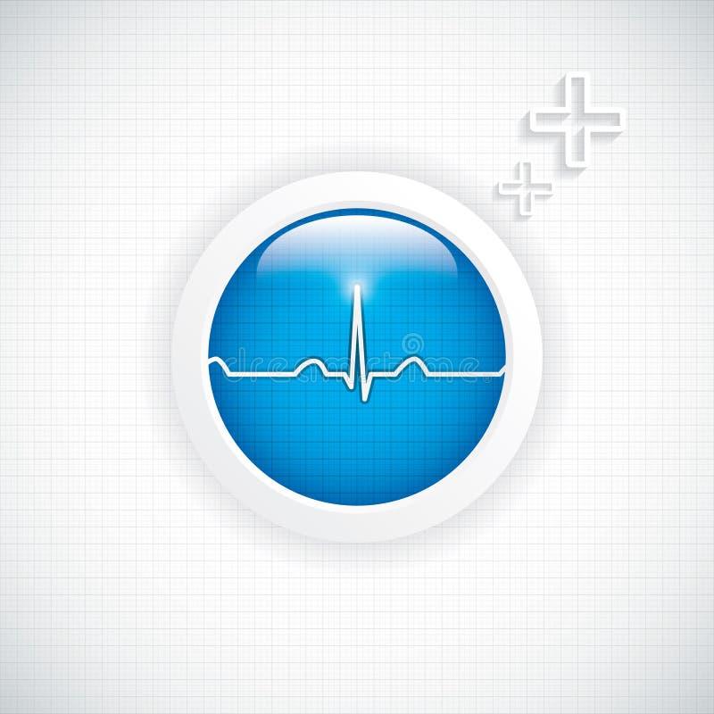 Кнопка диагностик бесплатная иллюстрация