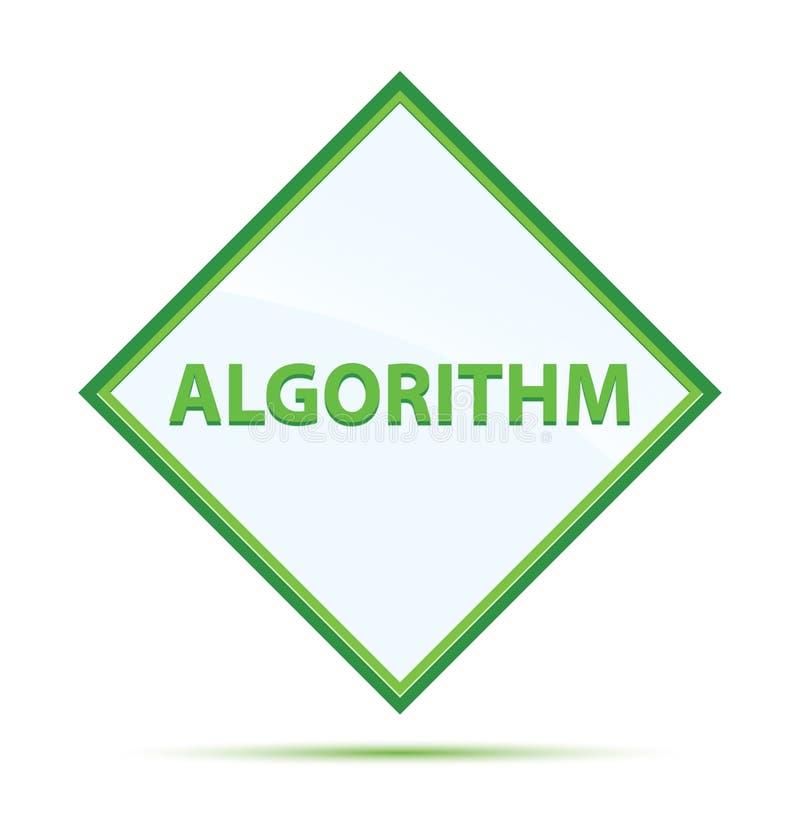 Кнопка диаманта алгоритма современная абстрактная зеленая иллюстрация вектора