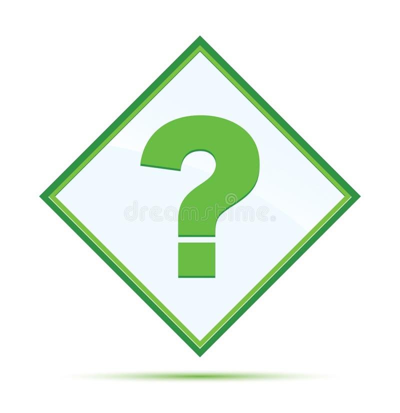 Кнопка диаманта значка вопросительного знака современная абстрактная зеленая бесплатная иллюстрация