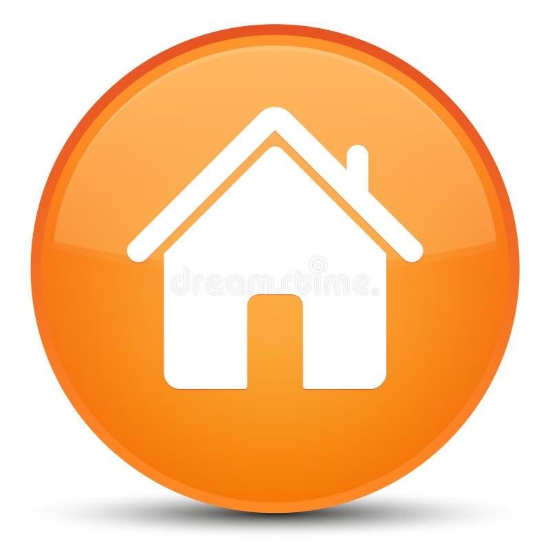 Кнопка домашнего значка специальная оранжевая круглая бесплатная иллюстрация