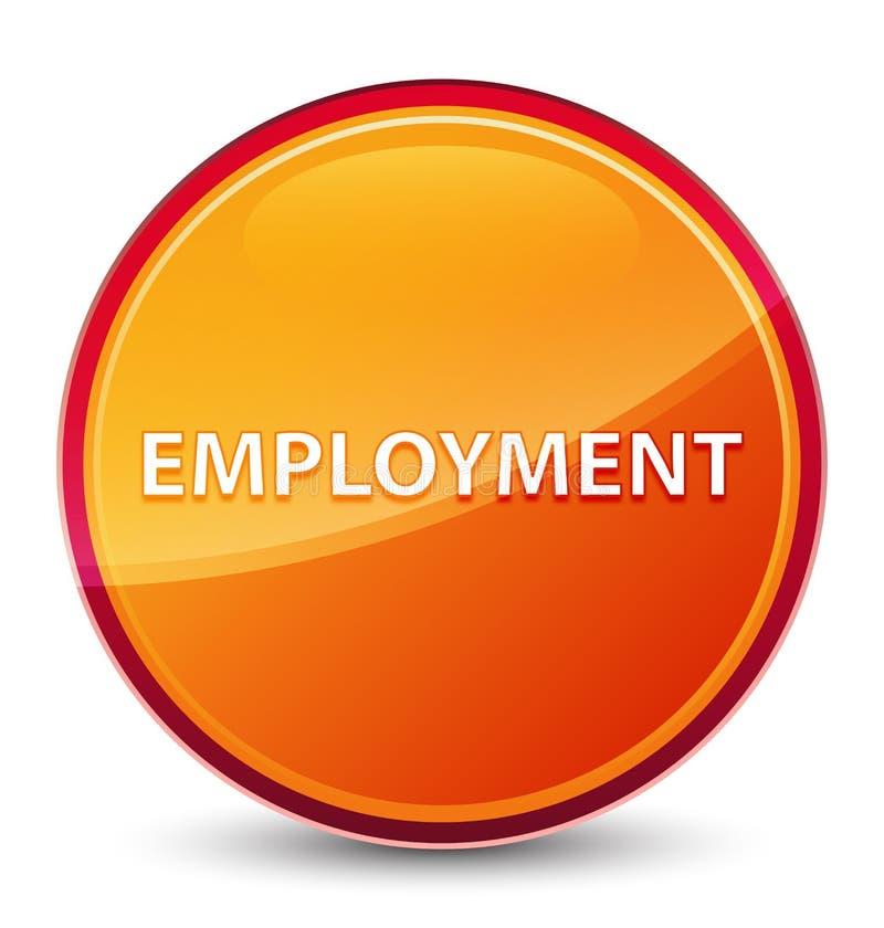 Кнопка занятости особенная стекловидная оранжевая круглая бесплатная иллюстрация