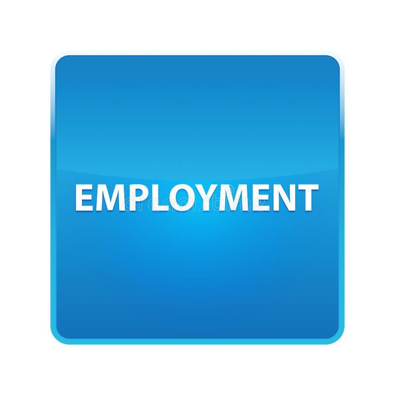 Кнопка занятости сияющая голубая квадратная иллюстрация вектора