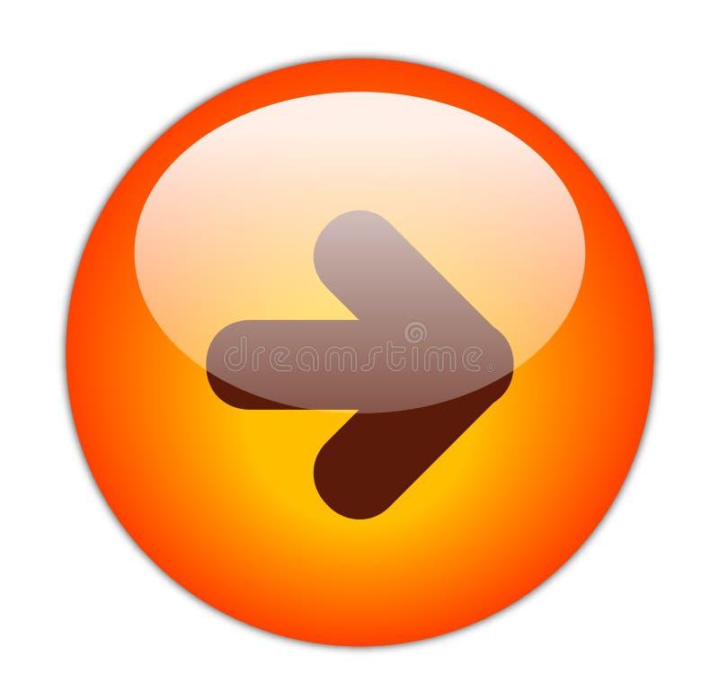 кнопка затем иллюстрация вектора