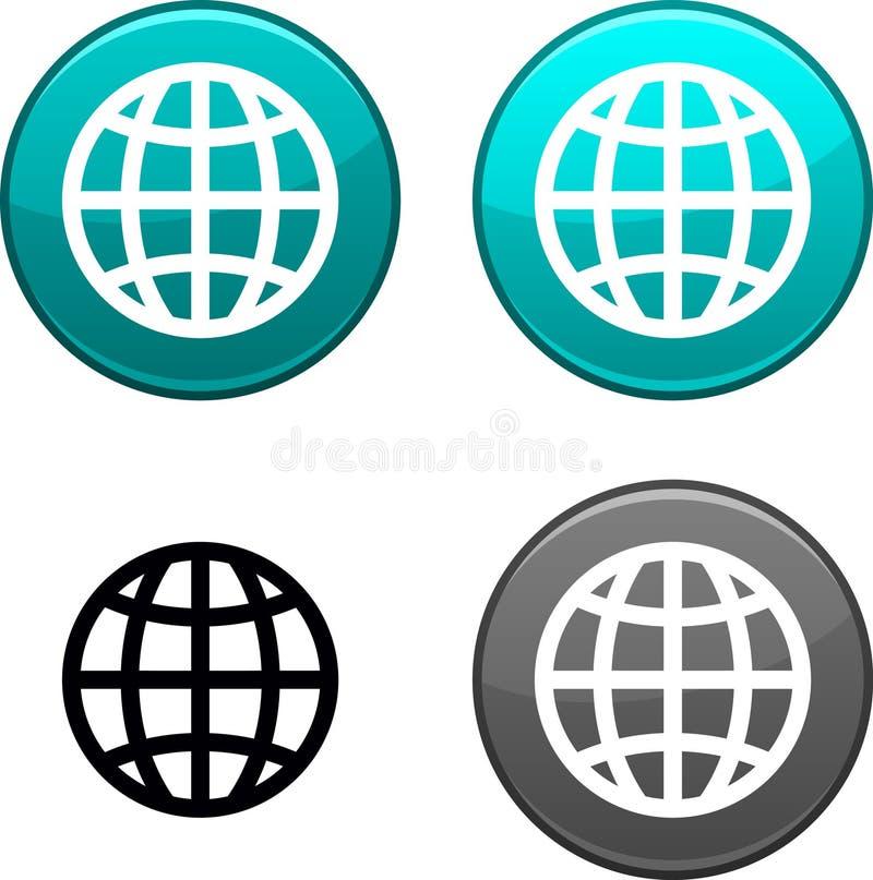 Кнопка земли. иллюстрация вектора