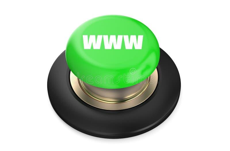 Кнопка зеленого цвета WWW иллюстрация вектора