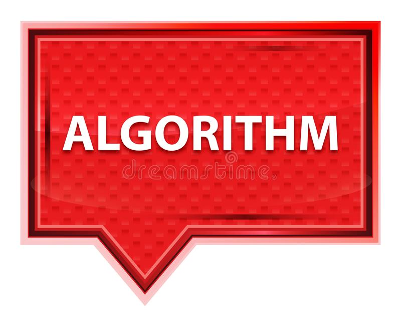 Кнопка знамени пинка розы алгоритма туманная бесплатная иллюстрация