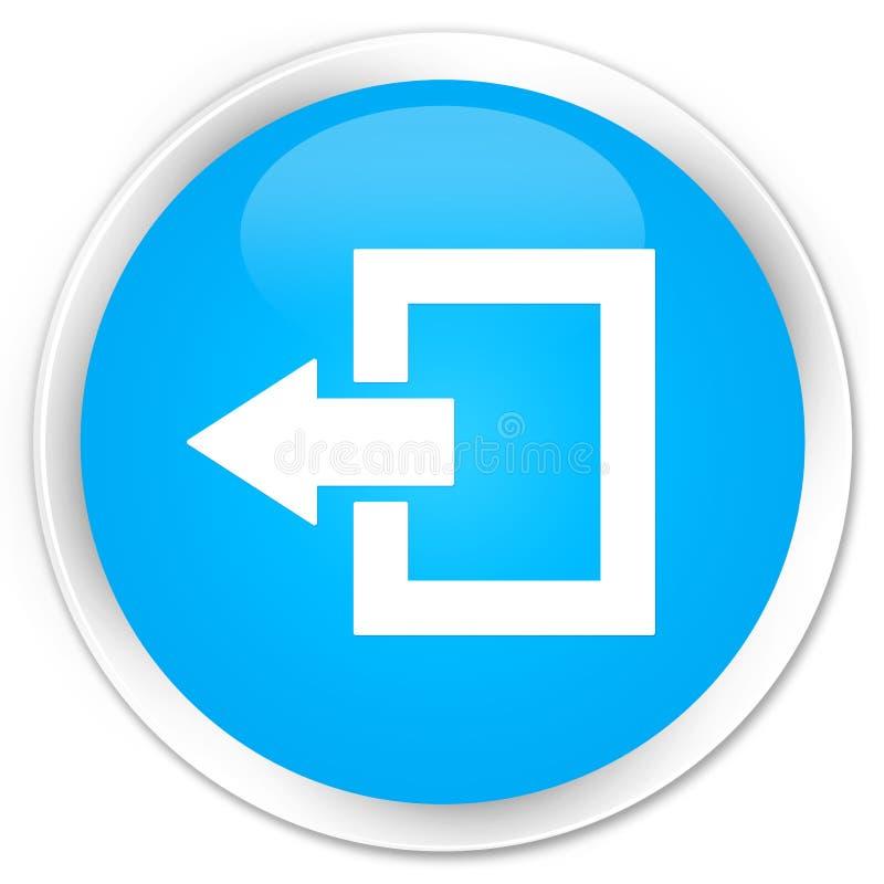 Кнопка значка выхода из системы наградная cyan голубая круглая иллюстрация штока