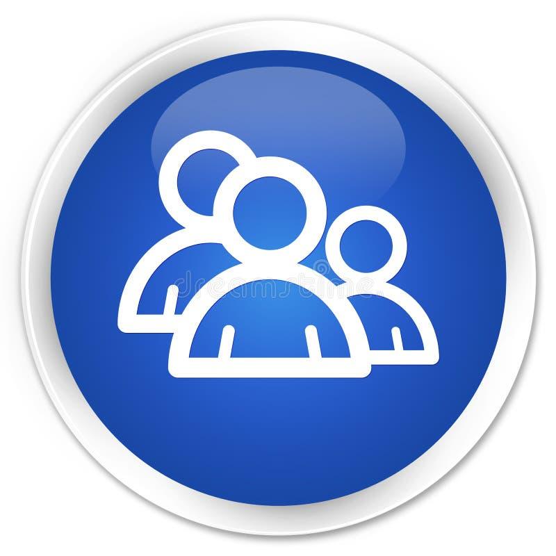 Кнопка значка группы наградная голубая круглая бесплатная иллюстрация