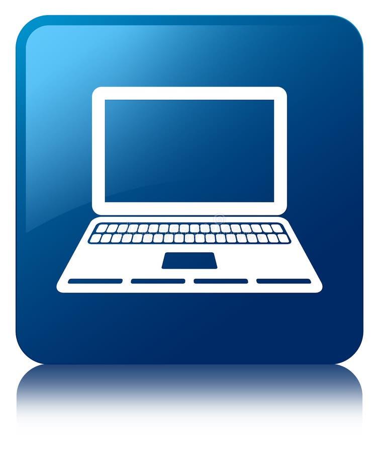 Кнопка значка компьтер-книжки голубая квадратная бесплатная иллюстрация