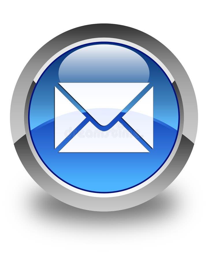 Кнопка значка электронной почты лоснистая голубая круглая бесплатная иллюстрация