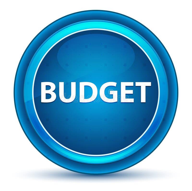 Кнопка зрачка бюджета голубая круглая иллюстрация штока