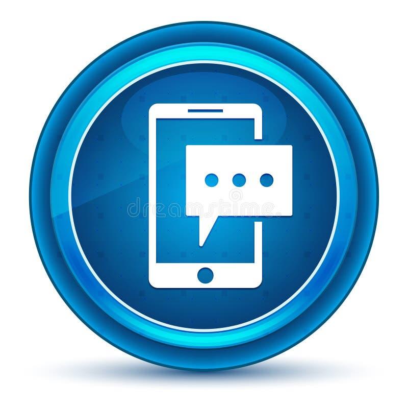 Кнопка зрачка значка телефона текстового сообщения голубая круглая бесплатная иллюстрация