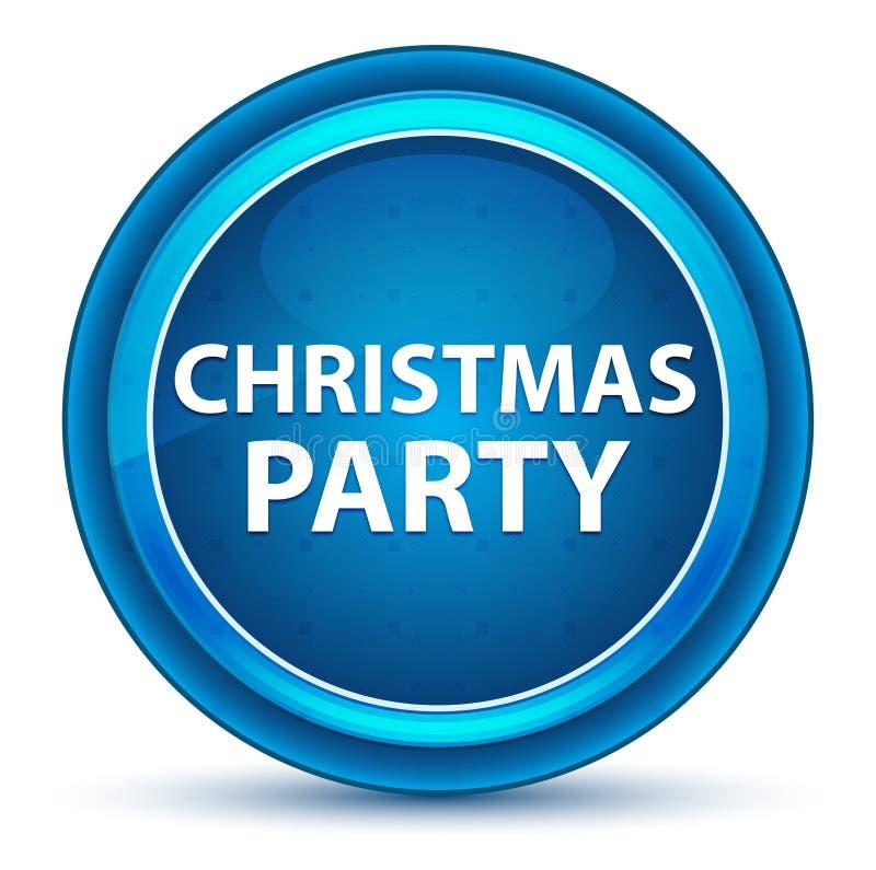 Кнопка зрачка рождественской вечеринки голубая круглая иллюстрация штока