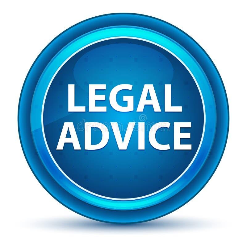 Кнопка зрачка юридического совета голубая круглая иллюстрация штока