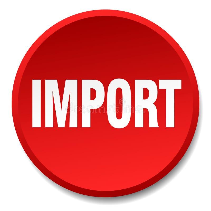 кнопка импорта бесплатная иллюстрация