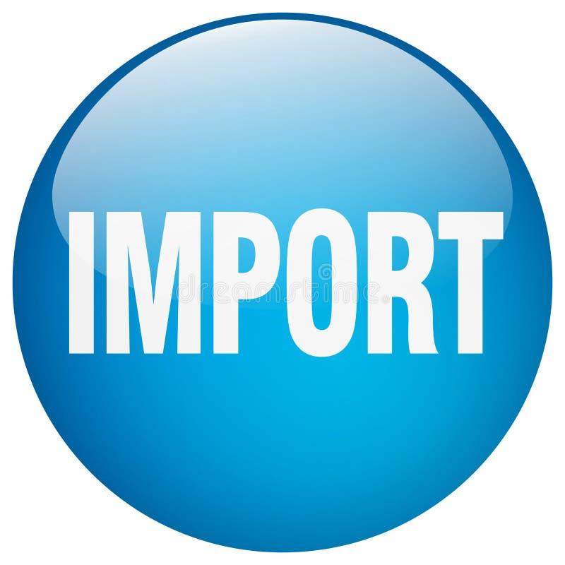 кнопка импорта иллюстрация вектора