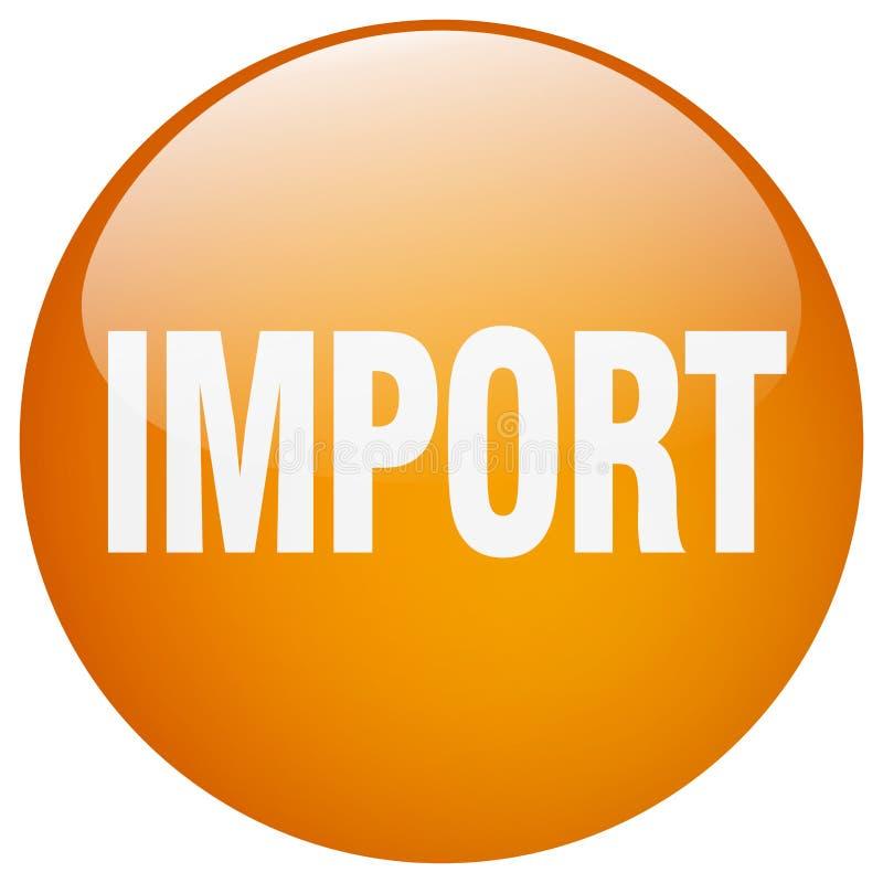 кнопка импорта иллюстрация штока