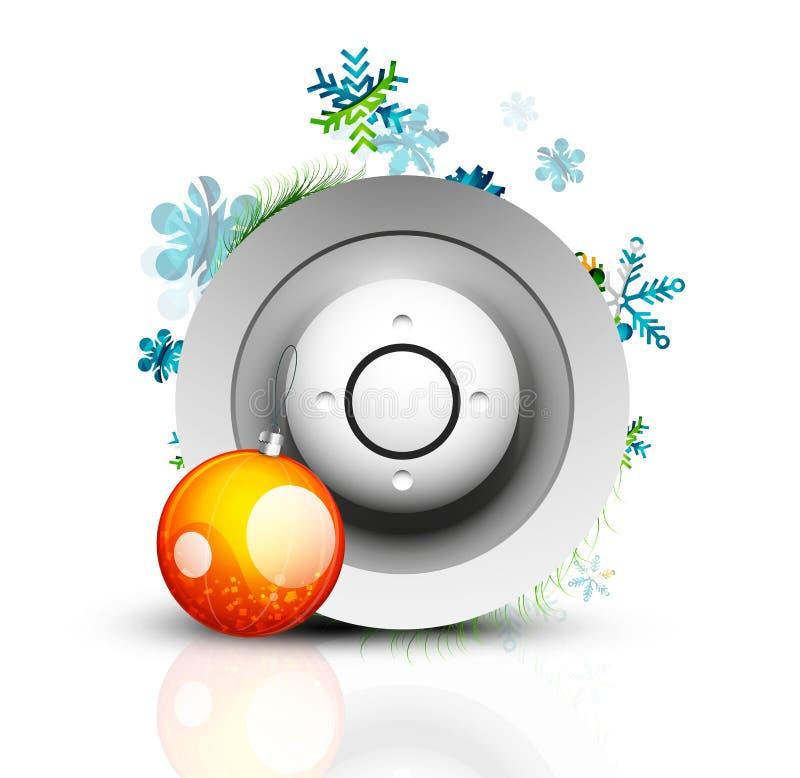 Кнопка интернета рождества иллюстрация вектора