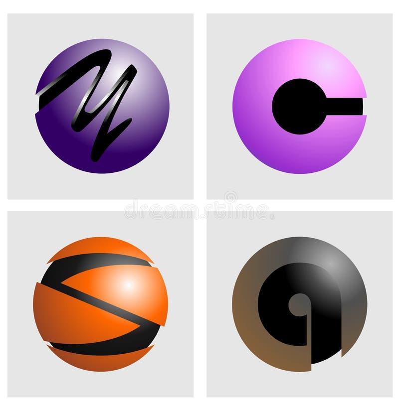 Кнопка и логотип алфавита стоковые изображения