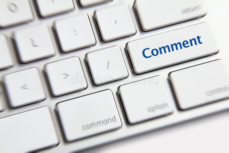 Кнопка комментария стоковые фотографии rf